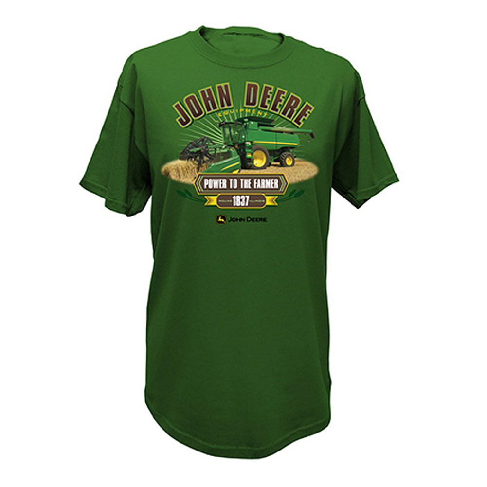 John Deere Combine Power To The Farmer T-Shirt