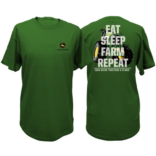 John Deere Eat, Sleep, Farm Tee