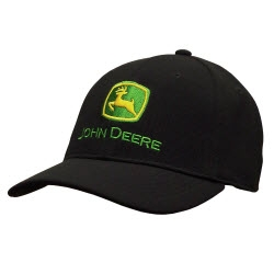 John Deere Stretch Band Logo Baseball Cap
