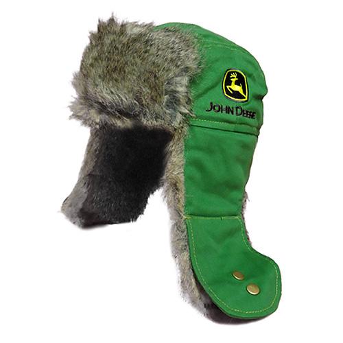 John Deere Logo Trapper Hat