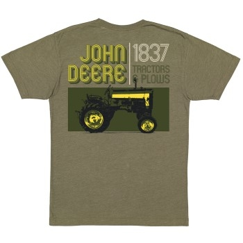 John Deere Men's Tractor & Plows T-Shirt