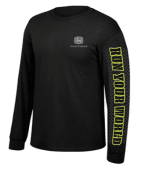John Deere Run Your World Long Sleeve T-Shirt