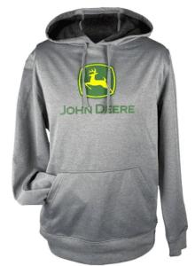 John Deere Grey Performance Hoodie