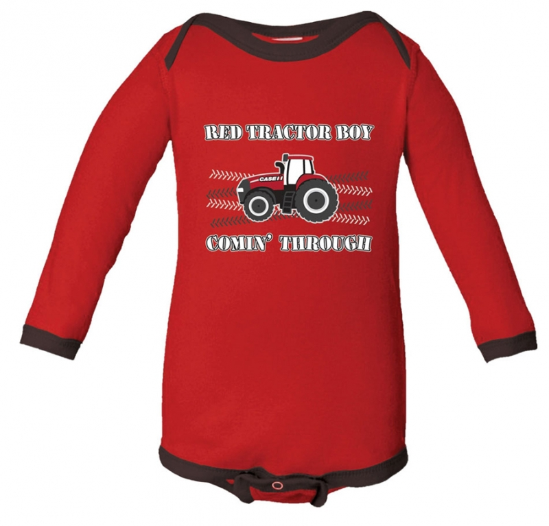 Case IH Tractor Boy Long Sleeve Onesie