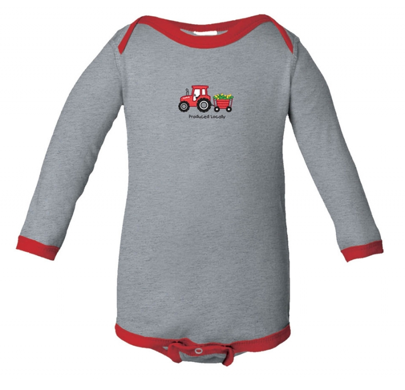 Case IH Produced Locally Long Sleeve Onesie
