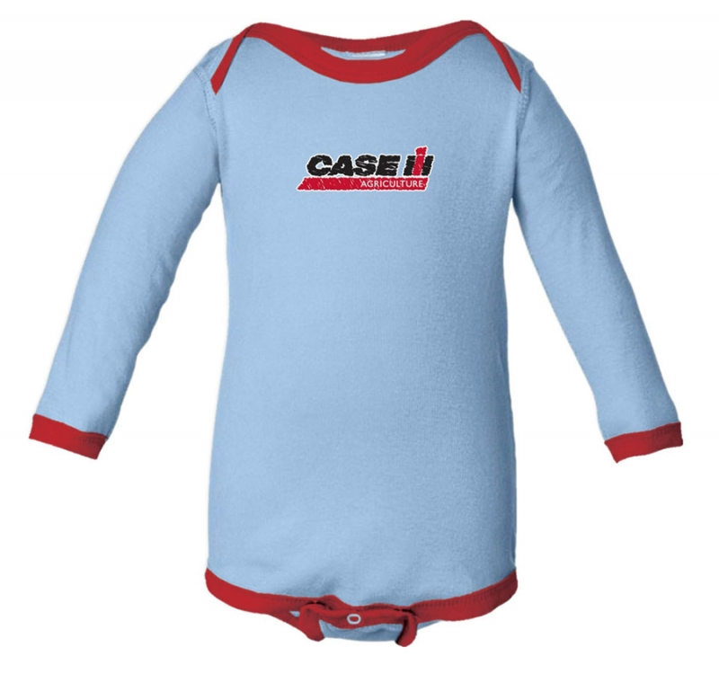 Case IH Scribble Logo Long Sleeve Onesie