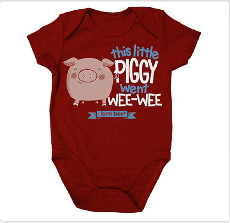 Damaged Farm Boy This Little Piggy Onesie