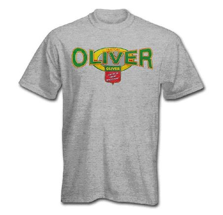 Men's Oliver Gray Squeezed Logo T-Shirt