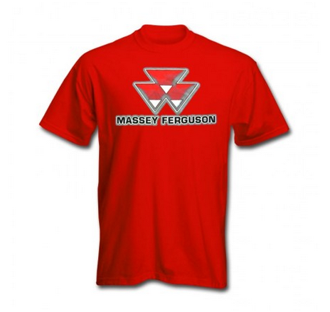 DAMAGED Massey Ferguson Shadow Logo T-Shirt