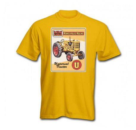 DAMAGED Minneapolis Moline Men's Yellow Vintage Sign T-Shirt