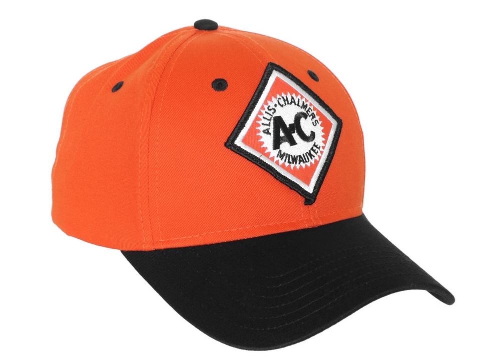 Allis Chalmers Diamond Logo Orange and Black Hat