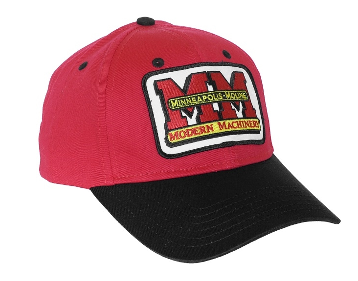 Minneapolis Moline Red and Black Hat