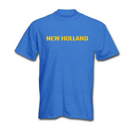 DAMAGED New Holland Stripe Logo T-Shirt