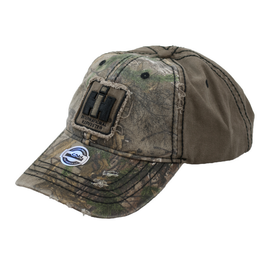 IH Distressed Two Tone Realtree Xtra Camo & Grey Cap