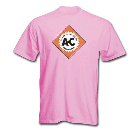 DAMAGED Allis Chalmers Women's Pink Diamond Logo T-Shirt