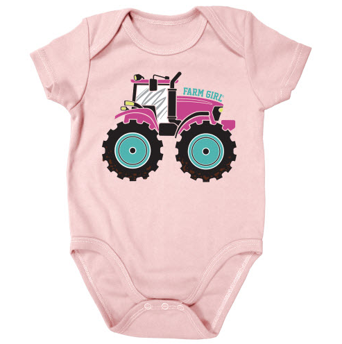 Farm Girl Tractor Onesie