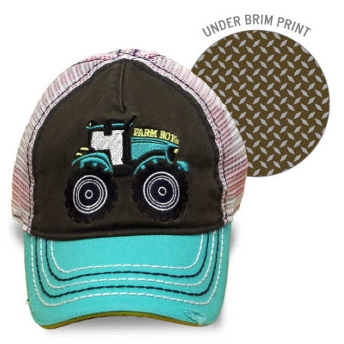 Farm Boy Tractor Mesh Cap Youth