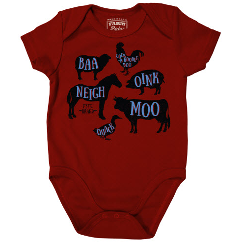 Farm Boy Animal Sounds Onesie