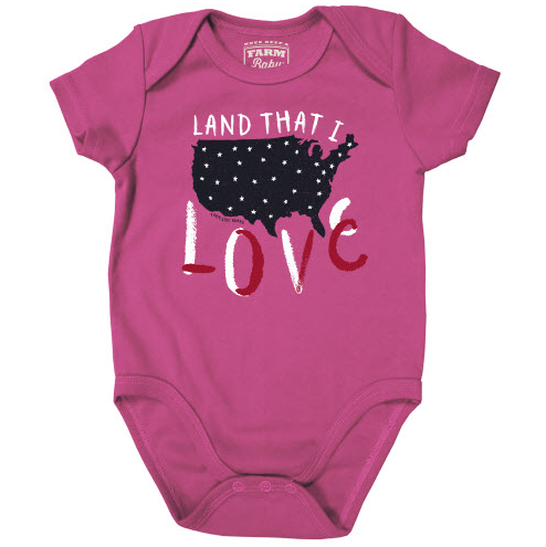 Farm Girl Land That I Love Onesie