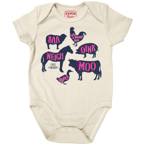 Farm Girl Animal Sounds Onesie