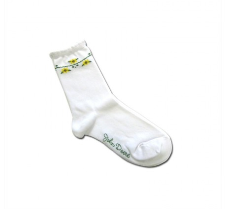 JOHN DEERE SUNFLOWER CREW SOCKS