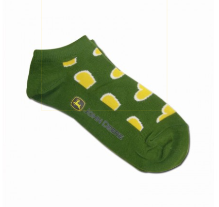 JOHN DEERE HEARTS ANKLE SOCKS-4-10