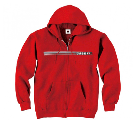 DAMAGED CASE IH STRIPE LOGO ZIP-UP HOODIE