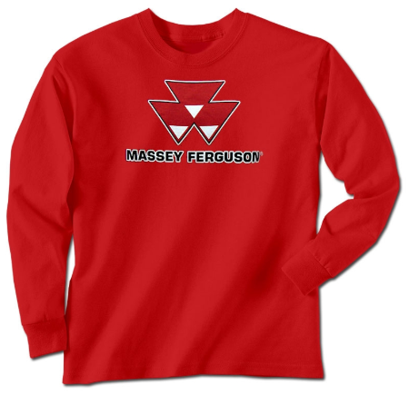 Damaged Massey Ferguson Men's Logo Long Sleeve T-Shirt