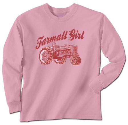 DAMAGED FARMALL GIRL LONG SLEEVE T-SHIRT
