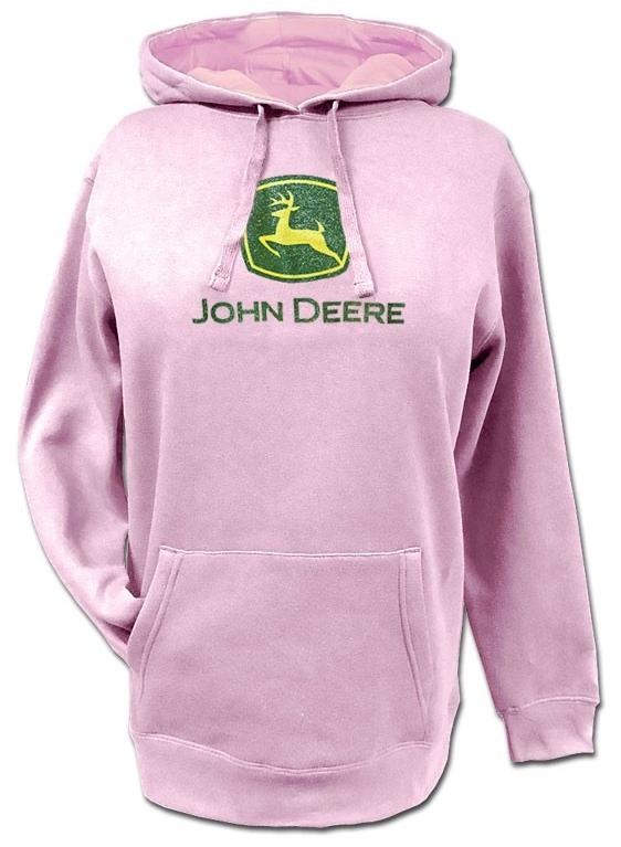 Damaged John Deere Childrens Logo Hoodie