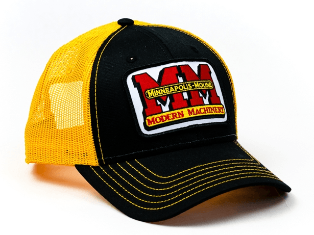 Minneapolis Moline Black and Gold Mesh Baseball Cap