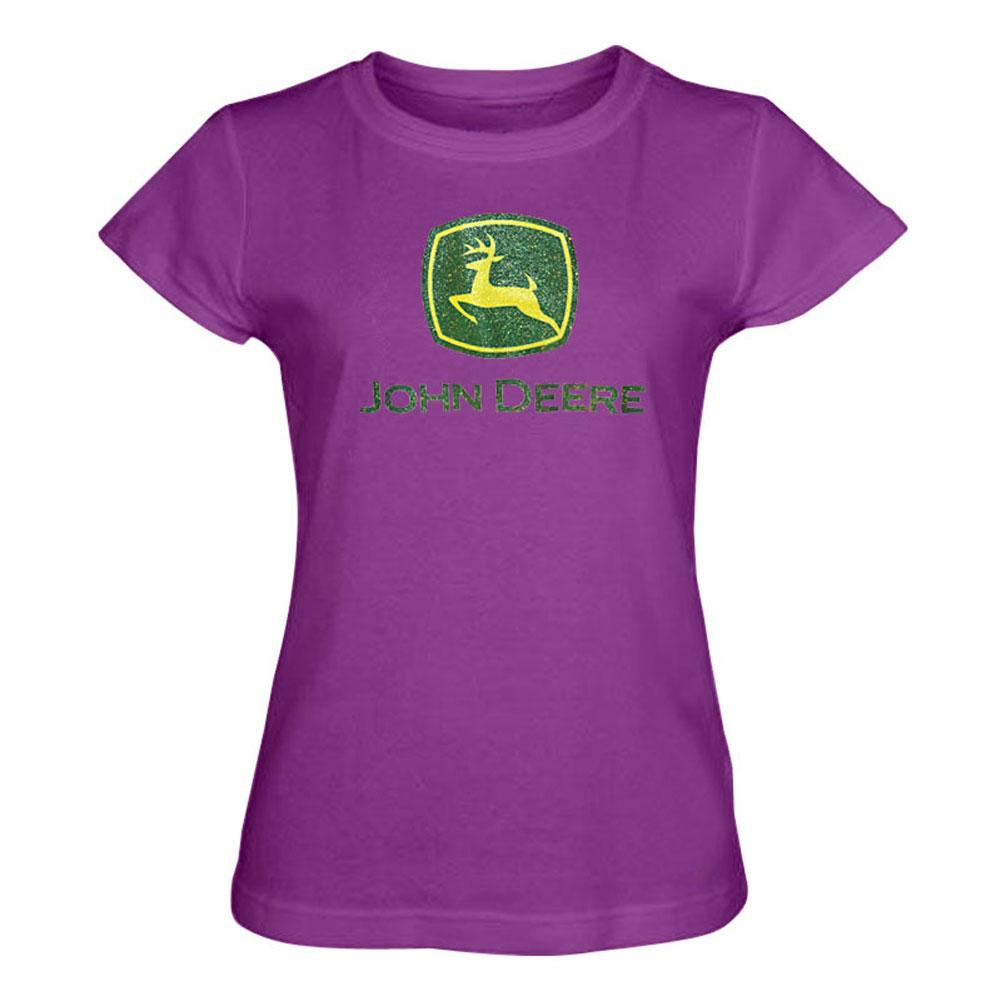 John Deere Glitter Logo T-Shirt