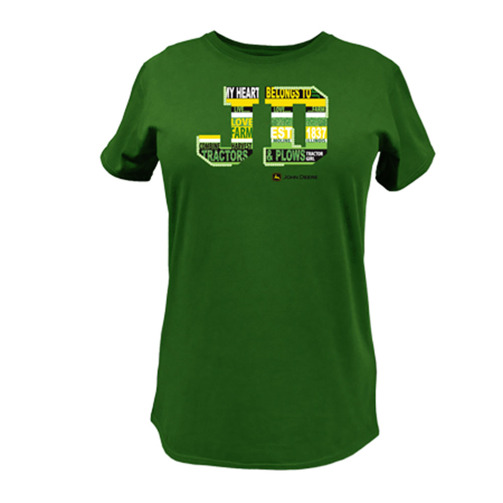 John Deere Stripes And Words T-Shirt