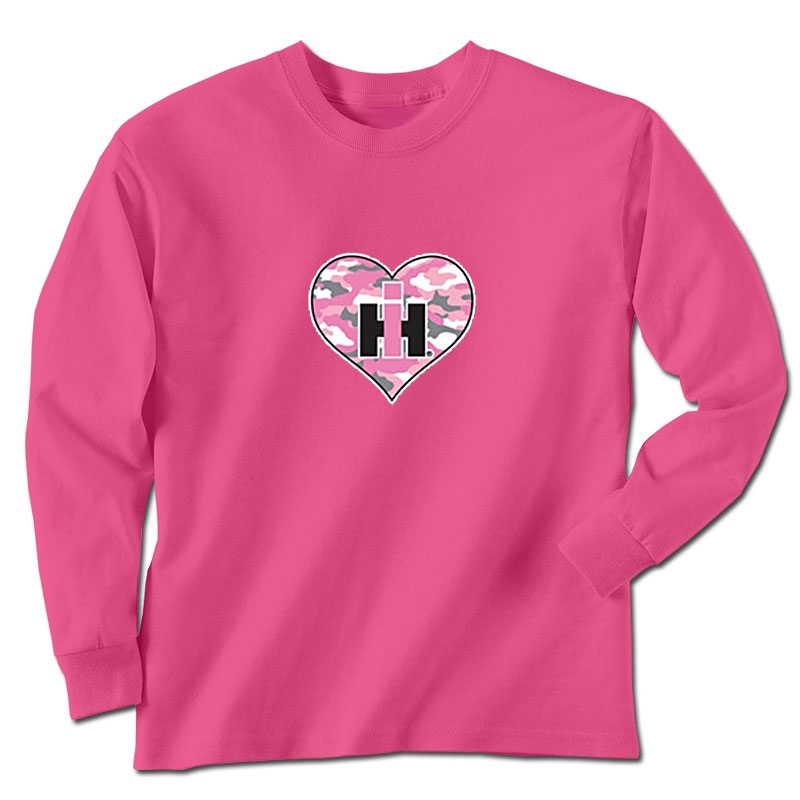 IH Camo Heart Long Sleeve T-Shirt
