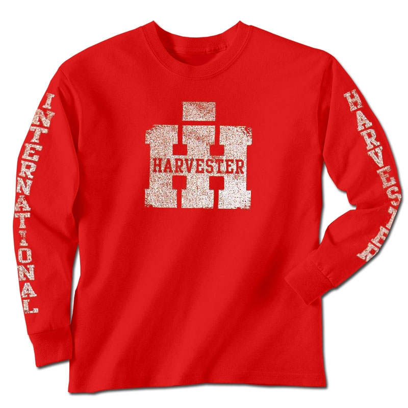 IH Worn Logo And Sleeve Print Long Sleeve T-Shirt