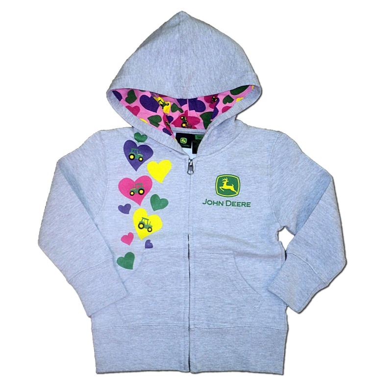 John Deere Hearts Zip Hoodie