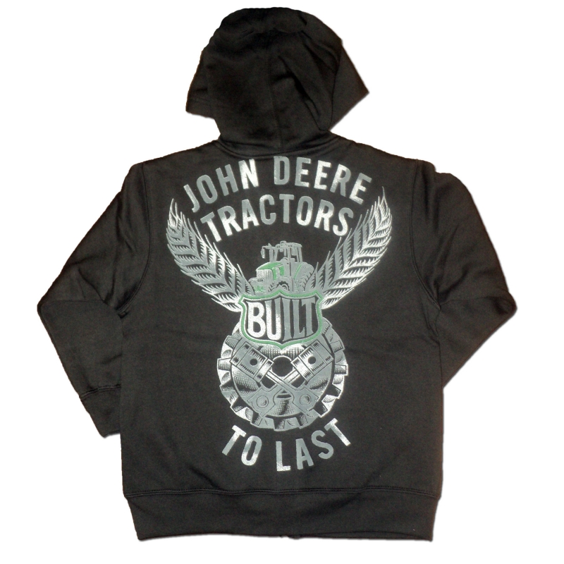 John Deere Built To Last Zip-Up Hoodie