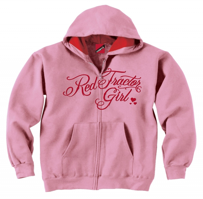 IH Red Tractor Girl Zip Up Hoodie