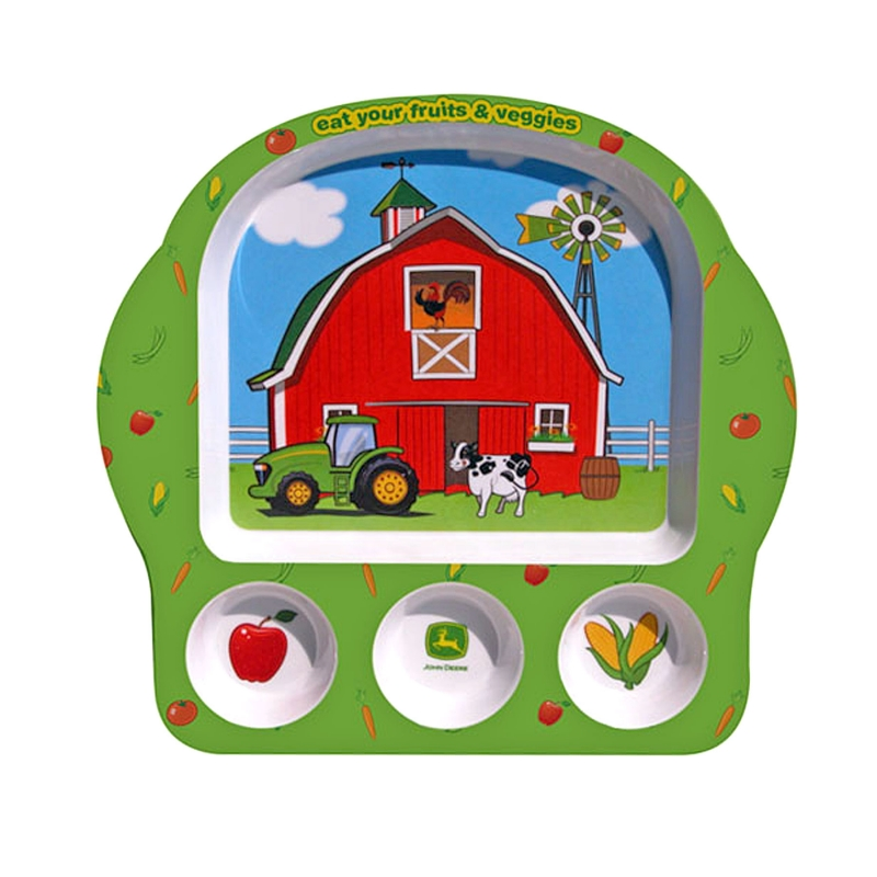 John Deere Eat Your Veggies Plate