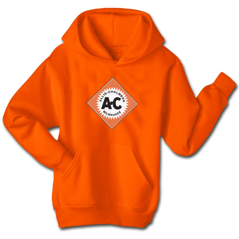 Allis Chalmers Men's Orange Diamond Logo Hoodie