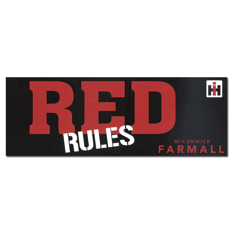 IH Farmall Red Rules Bumper Sticker