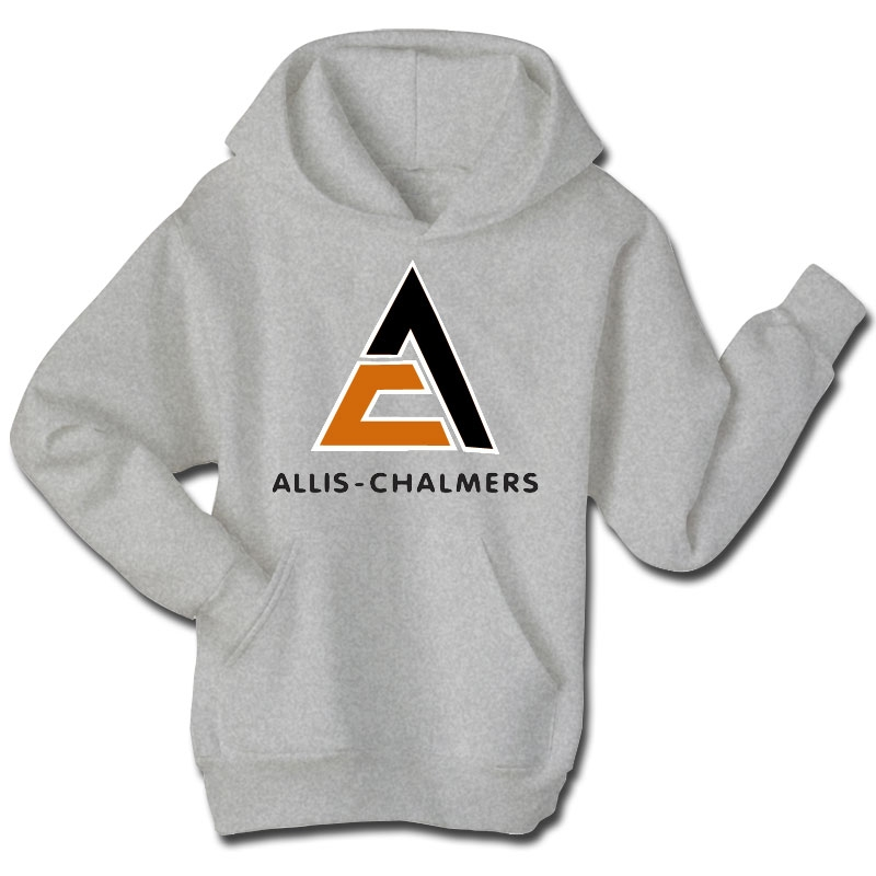 Allis Chalmers Men's Gray Applique Logo Hoodie