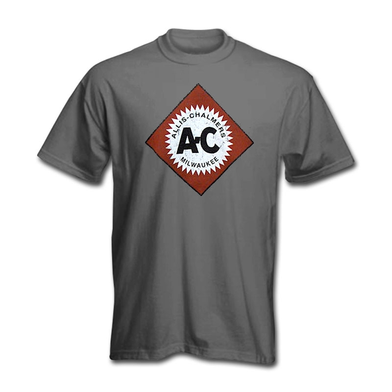 Allis Chalmers Men's Dark Gray Worn Diamond Logo T-Shirt