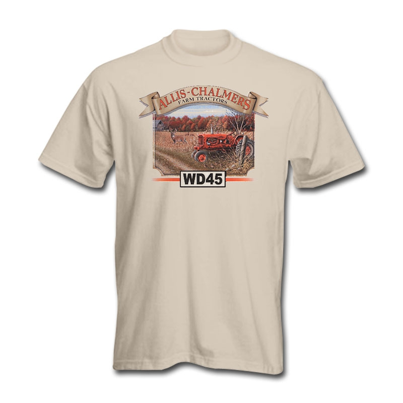 Allis Chalmers Men's Tan WD45 Tractor T-Shirt