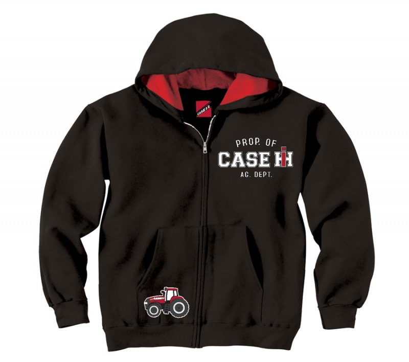 Case IH Property Of Zip Up Hoodie