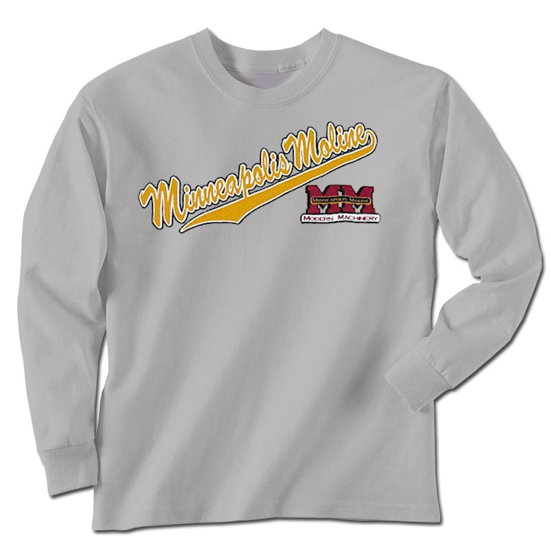 Minneapolis Moline Children's Gray Long Sleeve T-Shirt