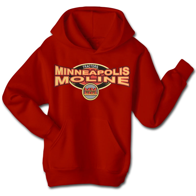 Minneapolis Moline Men's Red Squeezed Logo Hoodie
