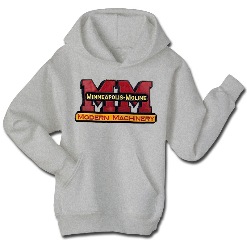 Minneapolis Moline Men's Gray Applique Logo Hoodie