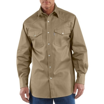 Carhartt Snap-Front Twill Work Shirt