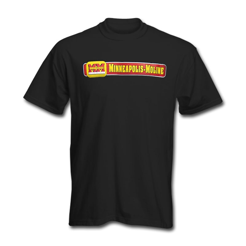 Minneapolis Moline Men's Black Horizontal Logo T-Shirt